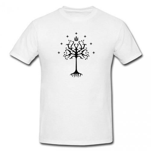 Tričko s gondorským stromem (bílé)