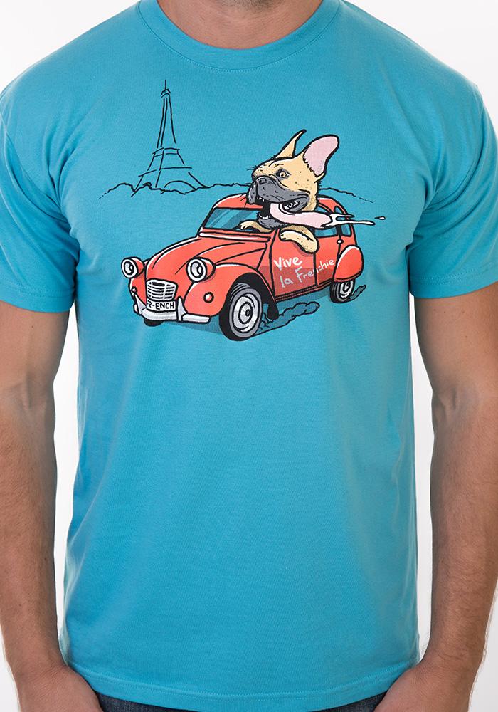 Francouzský buldoček pánské tričko