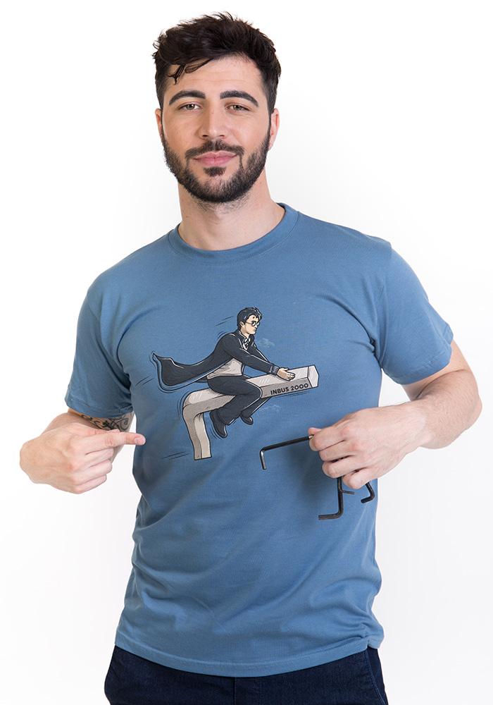Harry na inbusu modré pánské tričko