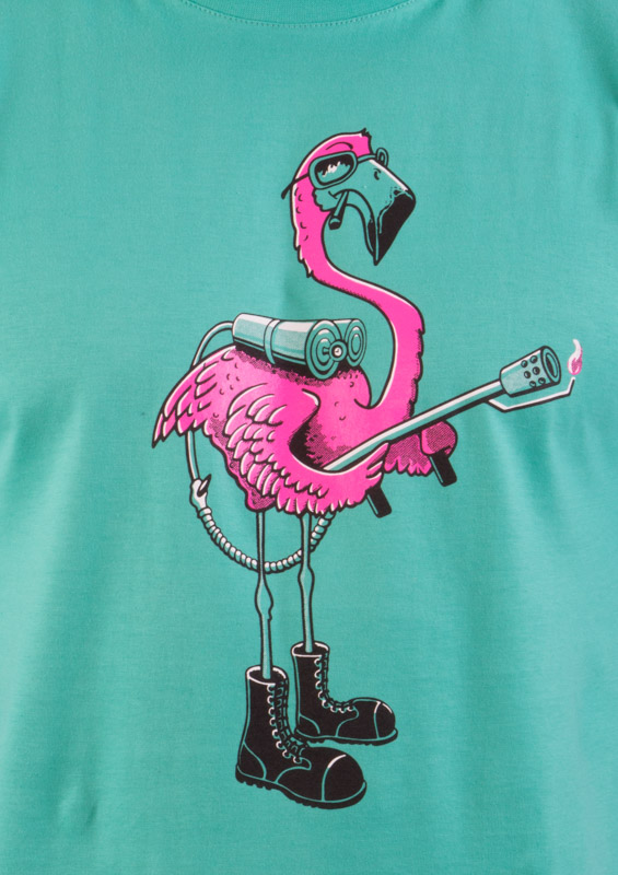 Plamenomeťák zelené pánské tričko