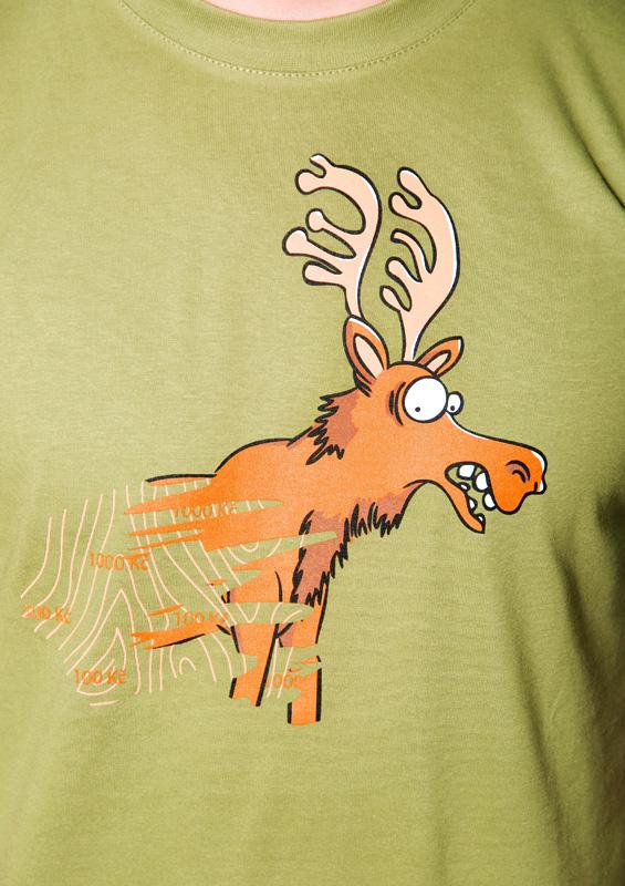 Stírací los zelené pánské tričko