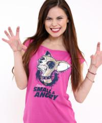 Čivava fuchsiové dámské tričko