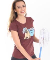 Mops hnědé dámské tričko