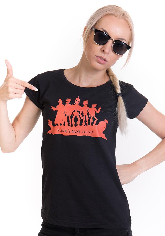 971b1027c81 Punk s Not Dead dámské tričko   od LevnéTrička.cz