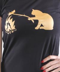 Kočka a myš dámské tričko