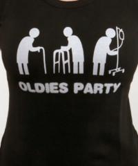 Oldies party černé dámské tričko raglán