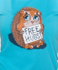 Objetí zdarma modré dámské tričko