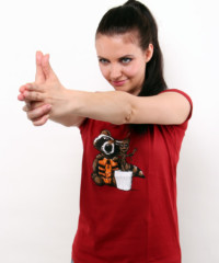 Strážci galaxie červené dámské tričko