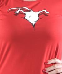 Myš ve výstřihu dámské tričko