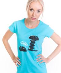 Vytočenej modré dámské tričko
