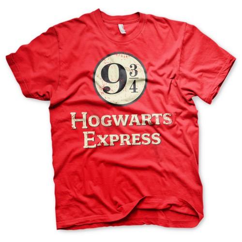 Tričko Harry Potter – Hogwarts Express, červené