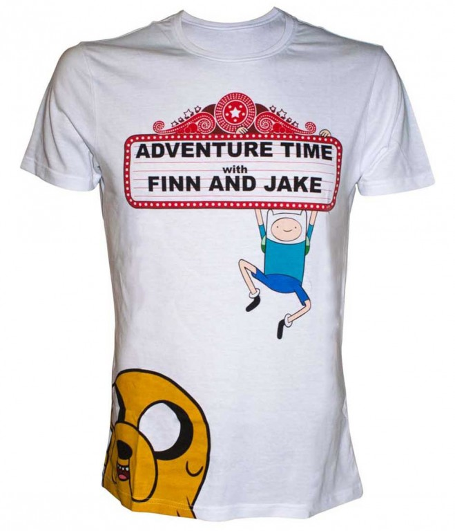Filmové tričko Adventure Time  – Finn and Jake At The Movies