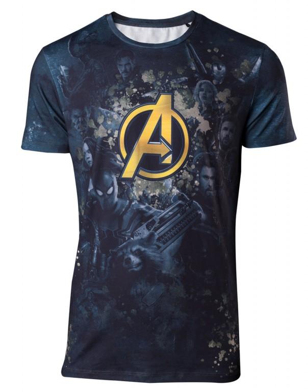 Filmové tričko Avengers Infinity War  Logo Sublimation