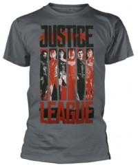 Filmové tričko Justice League  – Striped Characters