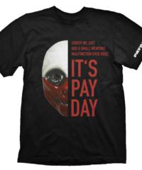 Herní tričko PayDay 2  – Wolf Mask