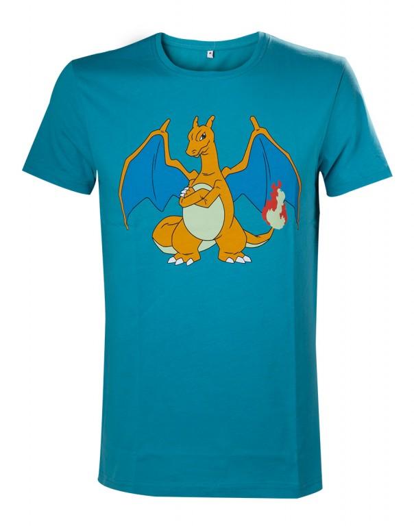Herní tričko Pokemon  – Charizard Turquoise