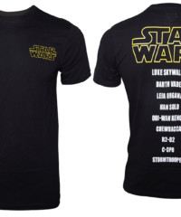 Filmové tričko Star Wars  – Main Characters List