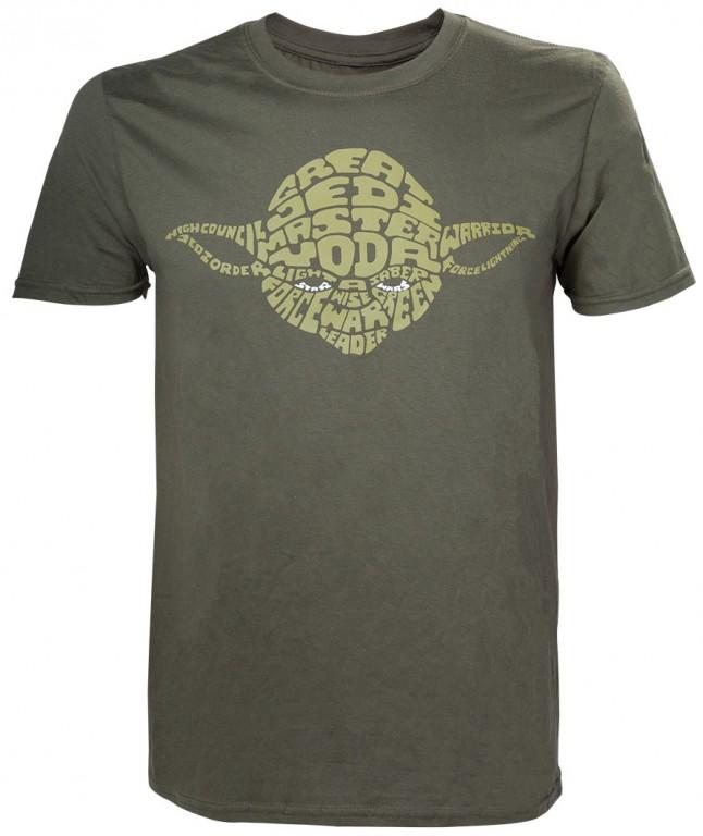 Filmové tričko Star Wars  – Yoda Word Play