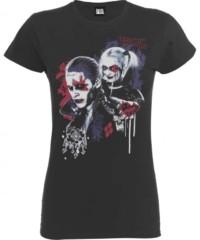 Filmové tričko Suicide Squad  Dámské – Harley's Puddin (tmavě šedá)