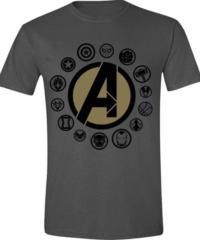 Tričko Avengers Infinity War – Logo, šedé