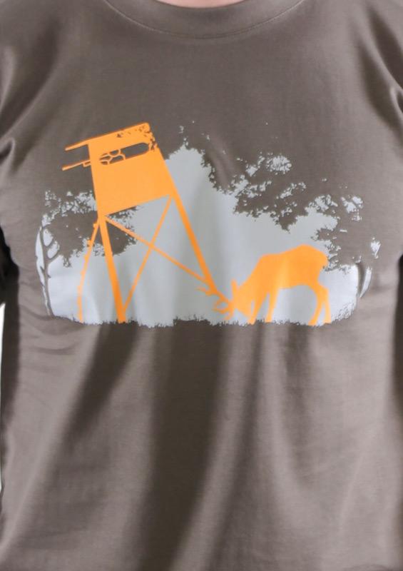 Lesní harmonie khaki pánské tričko – nový střih