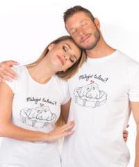 Miluju tulení bílé pánské tričko – nový střih