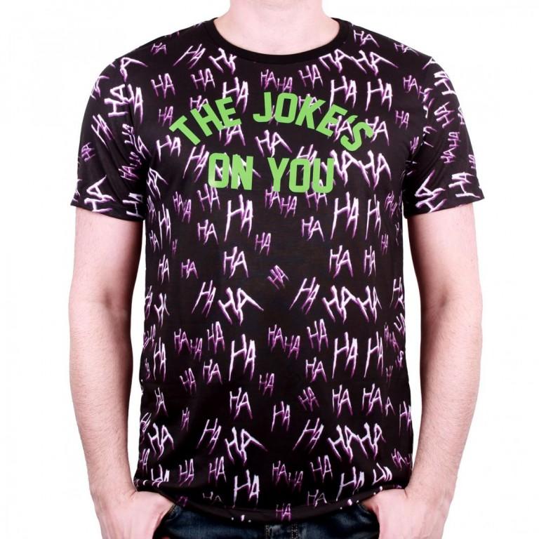 Filmové tričko Suicide Squad  The Joke Allover Print