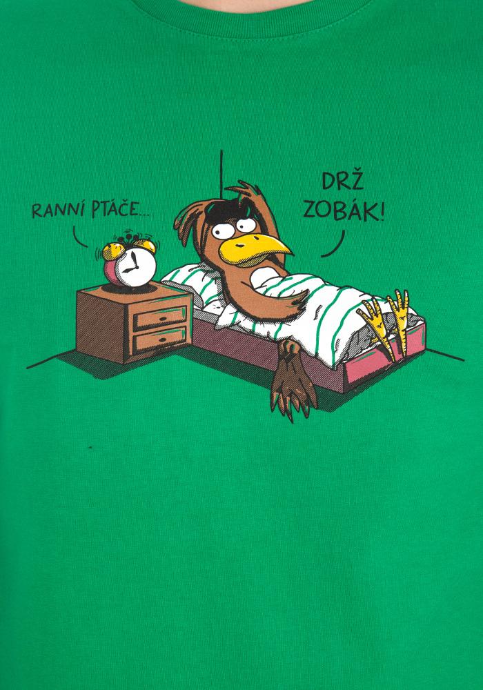 Ranní ptáče pánské tričko – nový střih