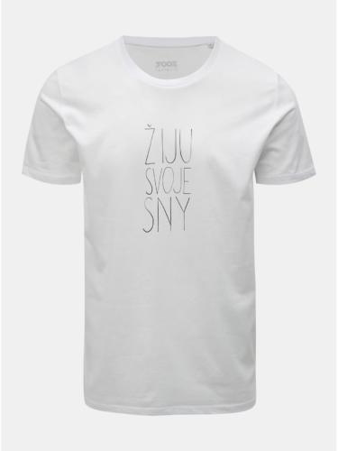 Bílé pánské tričko s potiskem ZOOT Original Žiju svoje sny