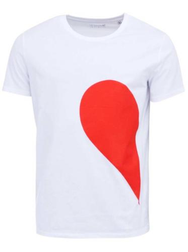 Bílé pánské tričko ZOOT Originál Jeho strana srdce