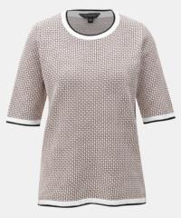 Meruňkovo-bílé vzorované tričko Dorothy Perkins