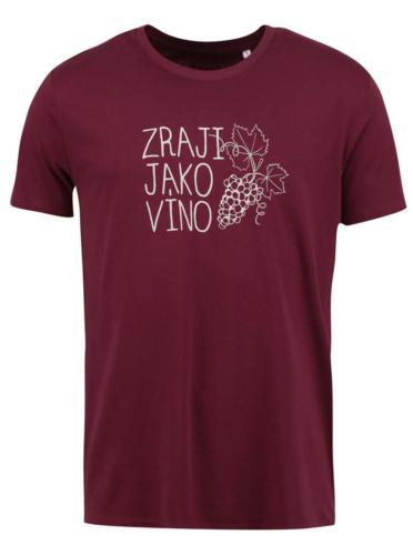Vínové pánské tričko ZOOT Originál Zraji jako víno