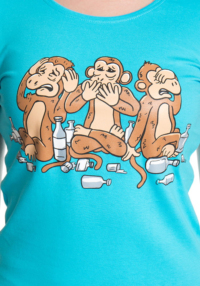Trojnásobná opice dámské tričko