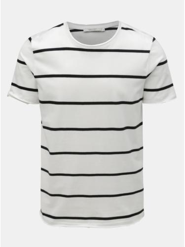 Bílé pruhované basic tričko Jack & Jones Matrick