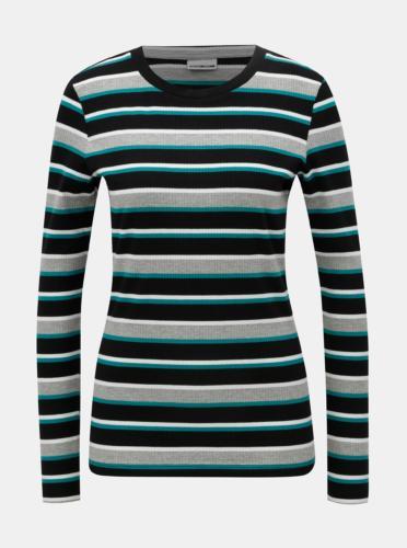 Černo-šedé pruhované tričko Noisy May Else