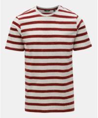Červeno-bílé pruhované tričko ONLY & SONS Elky
