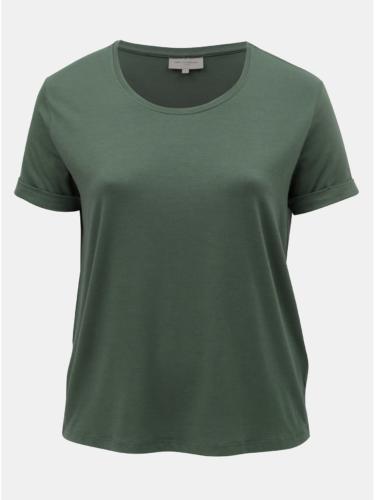 Khaki basic tričko ONLY CARMAKOMA Carcama