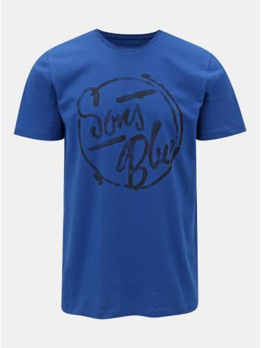Modré tričko s potiskem ONLY & SONS Lounge
