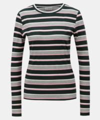Zeleno-šedé pruhované tričko Noisy May Else