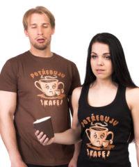 Potřebuju kafe pánské tričko