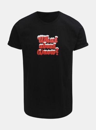 Černé pánské tričko s potiskem ZOOT Original What about snow