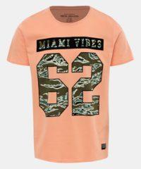 Oranžové tričko s potiskem Shine Original