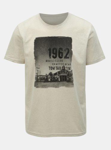 Béžové pánské tričko Tom Tailor