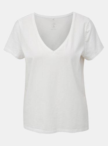 Bílé basic tričko VILA Susette