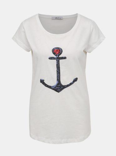 Bílé dámské tričko s flitry Haily´s Ella