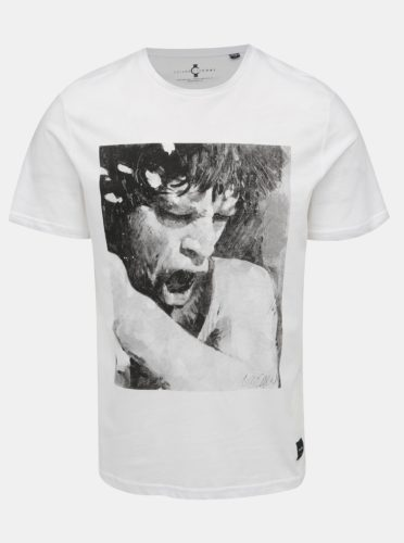 Bílé tričko s potiskem ONLY & SONS Jagger