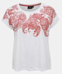 Bílé tričko s potiskem Zizzi Joy