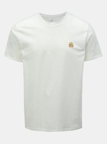 Bílé tričko s výšivkou Burton Menswear London