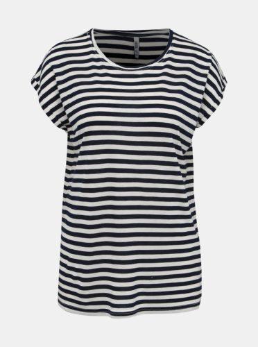 Bílo-modré dámské pruhované basic tričko Haily´s Glenn