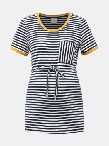 Bílo-modré pruhované těhotenské tričko Mama.licious Gina